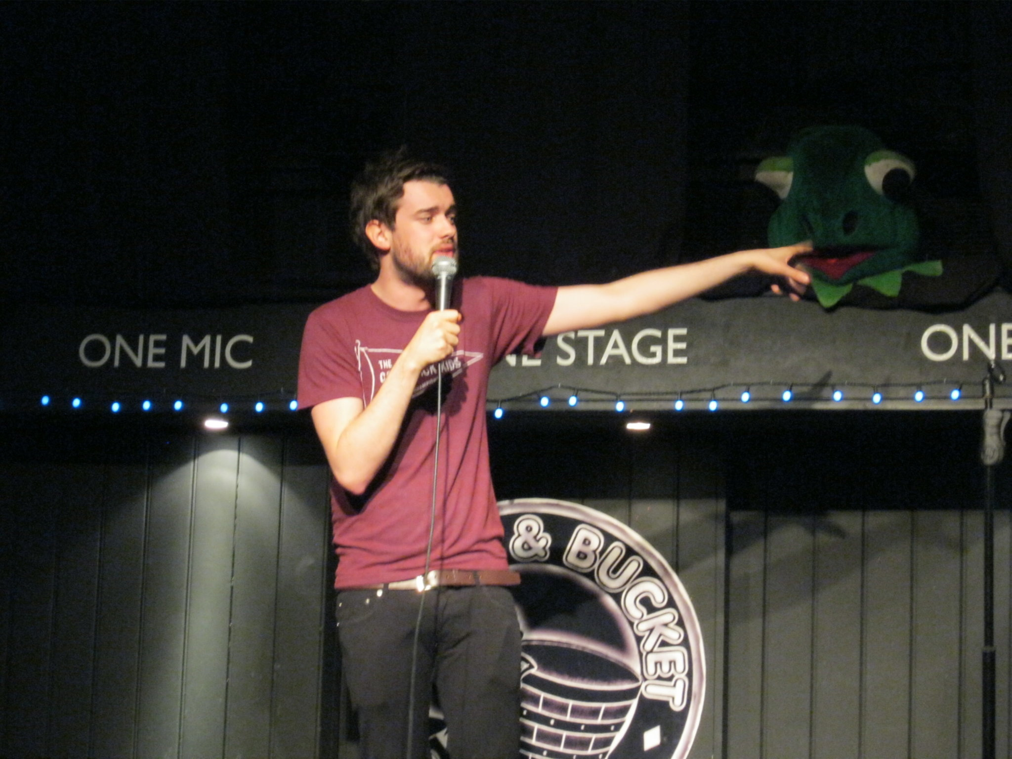 Jack Whitehall warms up for nBeat The Frog in 2015!