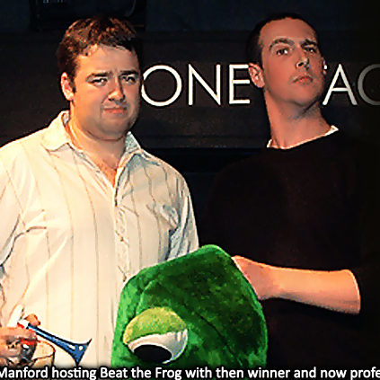 Jason Manford hosting Beat the Frog with David Longley