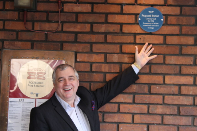 David Perkin and our new plaque! 2015