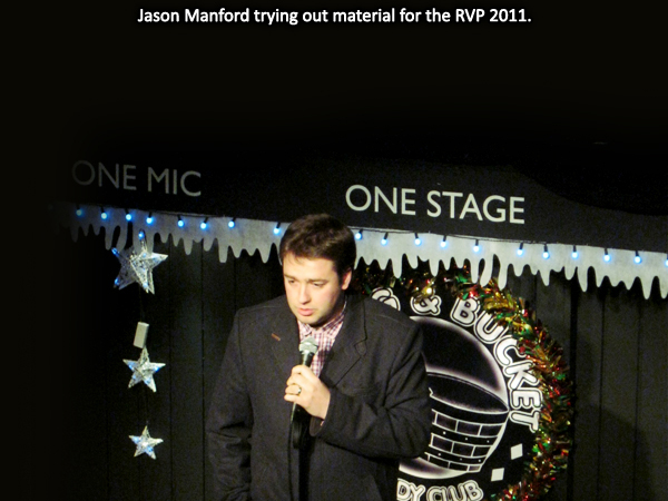 Jason Manford trying out new material for the RVP 2011.